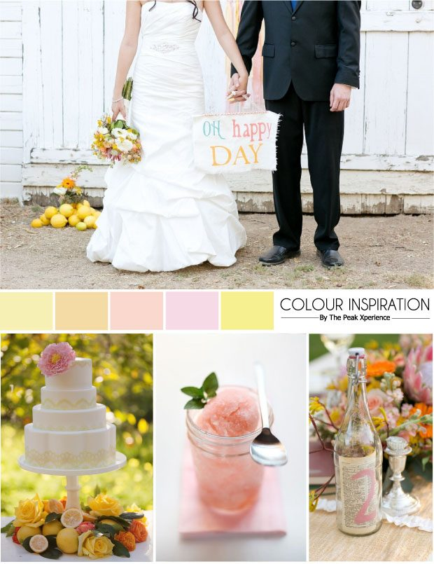 Citrus Sorbet Wedding Colours