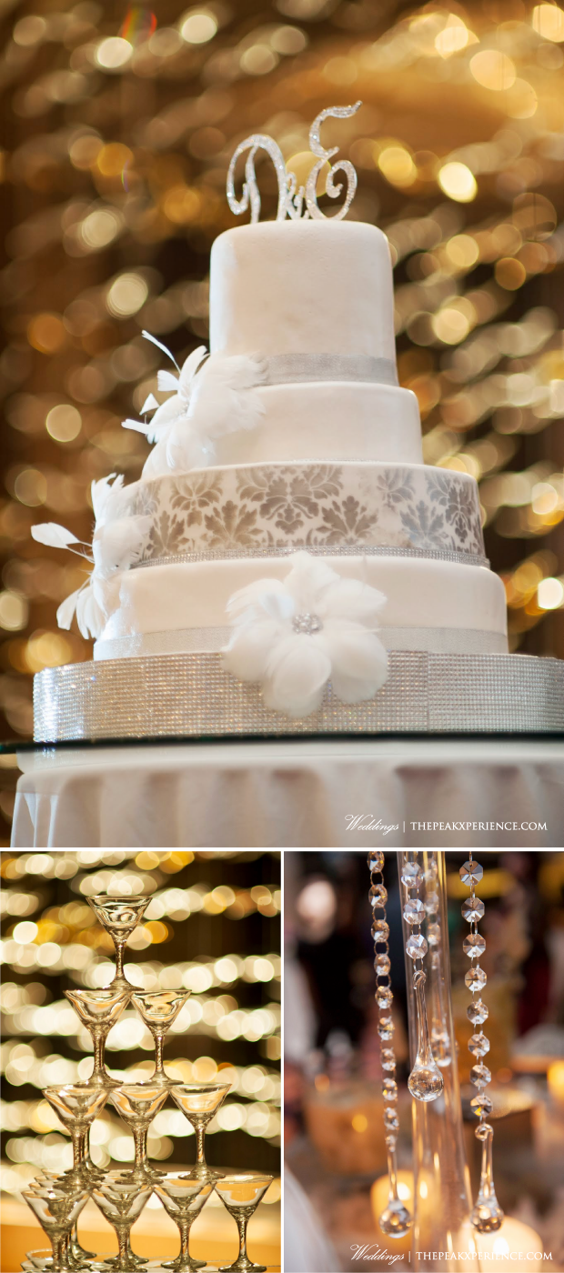 White Silver Wedding Cake Damask | Wedding Planning by The Peak Xperiece