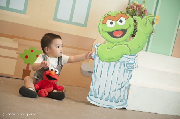 Peachy Summer's Day Birthday Party with Elmo at Sesame
